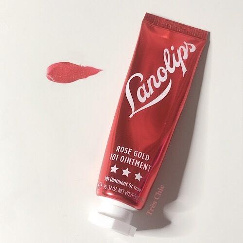 Lanolips(ラノリップス)Rose Gold 101 Ointment ローズゴールドティントのパケ