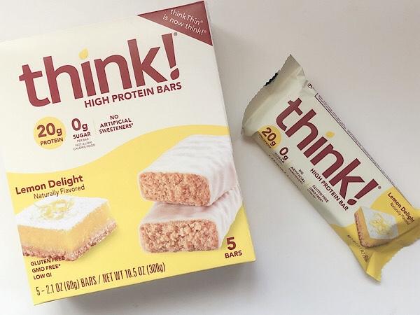 アイハーブで買ったThink!のレモンケーキ味のプロティンバー