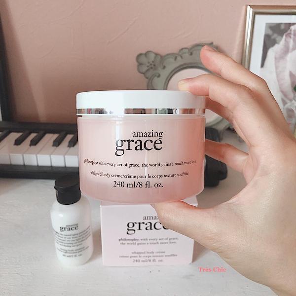 philosophyの人気香水Amazing Graceの香りのボディクリームとファーミングボディローション