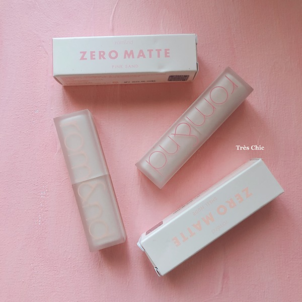 rom&nd(ロムアンド)のゼロマットリップスティック(Zero Matte Lipstick)がリニューアル!
