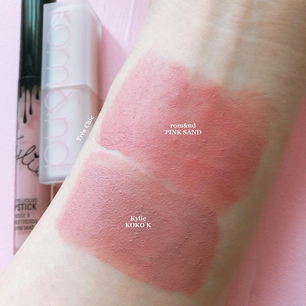 rom&nd(ロムアンド)の新作ゼロマットリップスティック(Zero Matte Lipstick)ピンクサンド(Pink Sand)