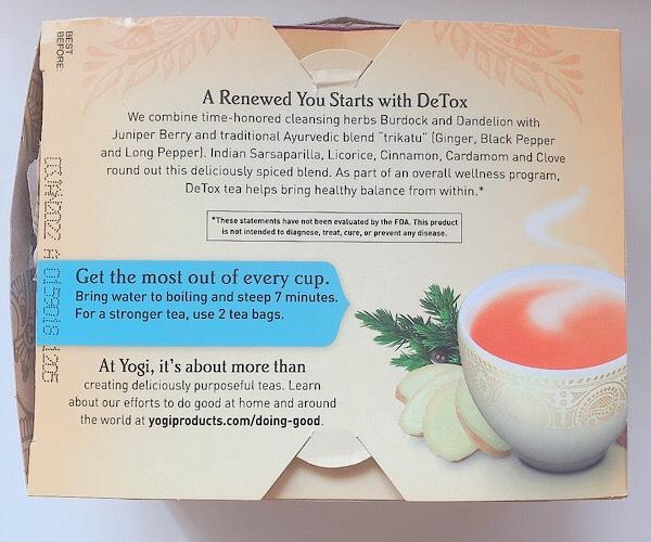 ヨギティーデトックス(yogi tea Detox)