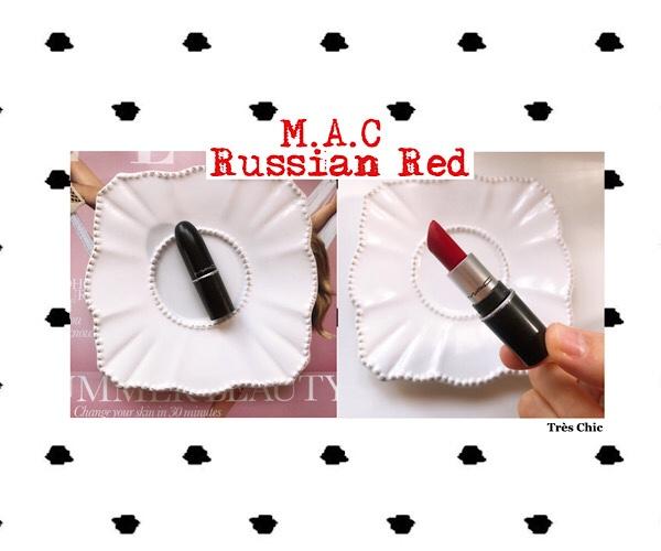 Mac のミニリップ赤リップ人気色ロシアンレッドがブルベ向きでオススメな話。
