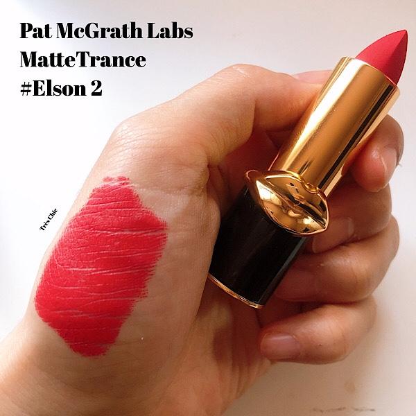 Pat McGrath Labs(パット・マグラス ラブス)の赤リップ、マットリップMatteTrance のElson 2 をレビュー