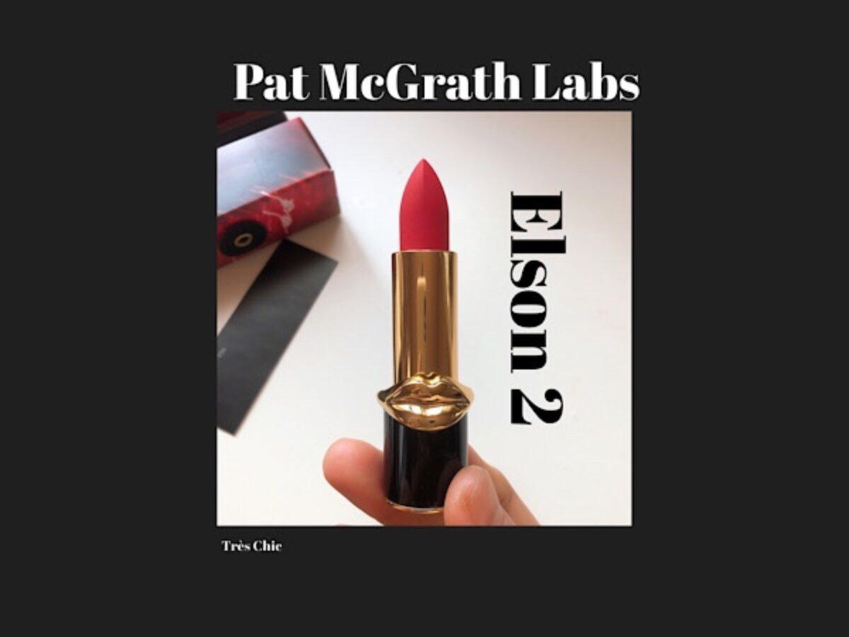 Pat MacGrtah Labs MatteTrance Elson 2 パット・マグラスの赤リップ エルソン2(とMACロシアンレッドの話)