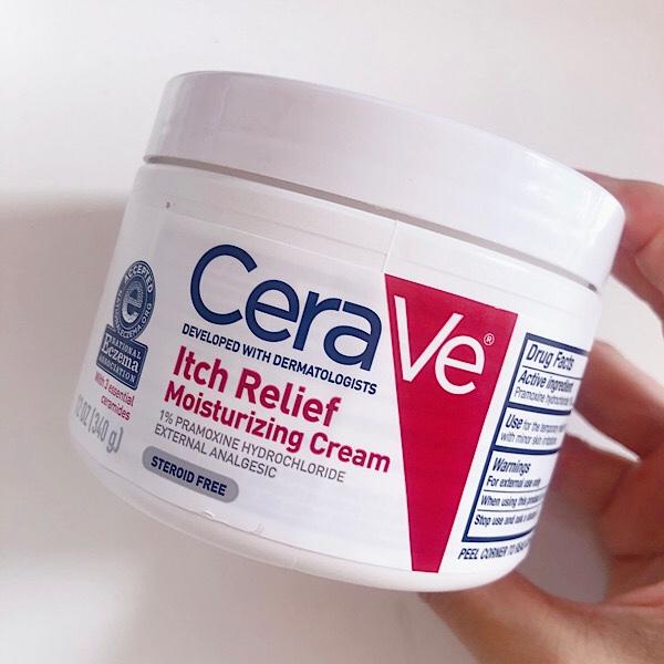 アイハーブで買えるCeraVe(セラヴィ) 痒み軽減モイスチャライジングクリーム(保湿クリーム)は花粉症で揺らいだ肌に効果的