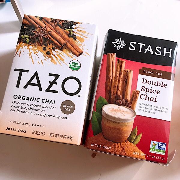 アイハーブおすすめのお茶は、TAZOのオーガニックチャイとSTASH ダブルスパイスチャイ