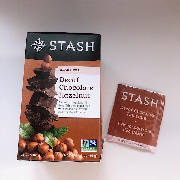 アイハーブで買えるSTASHのカフェインフリーなチョコレートヘーゼルナッツのお茶が美味しくておすすめ