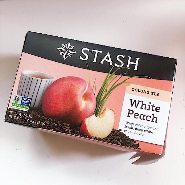 アイハーブで買えるSTASHのお茶ホワイトピーチはウーロン茶ベースで美味しい