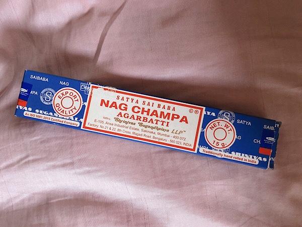 サティヤのナグチャンパのお香で浄化