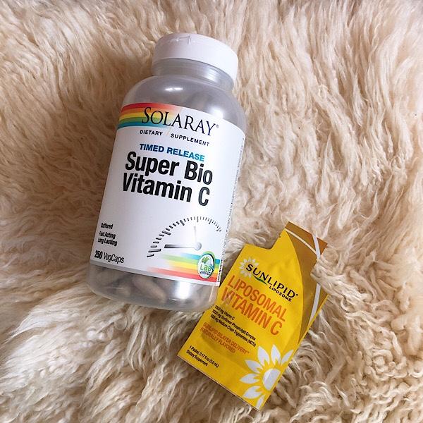 アイハーブで買ったSUNLIPID リポソームビタミンCとソラレのスーパーバイオビタミンC