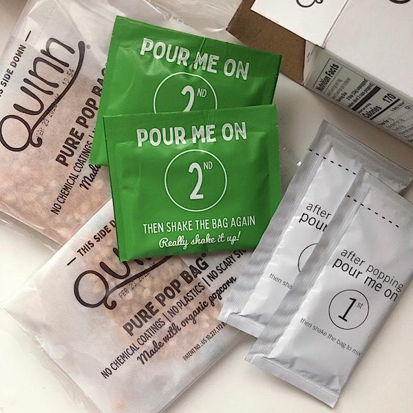 アイハーブで買えるダイエットにおすすめなおやつ、Quinnのポップコーン